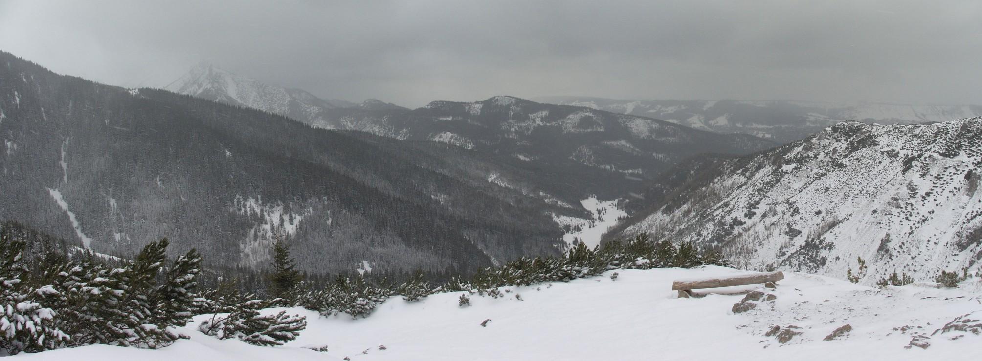 Otoczenie Doliny Jaworzynki z Przełęczy między kopami