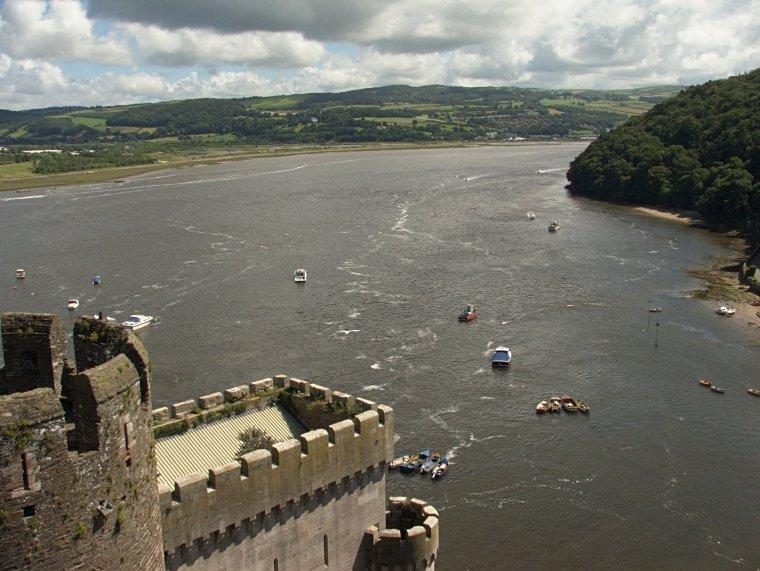 Conwy - zamek i rzeka o tej samej nazwie