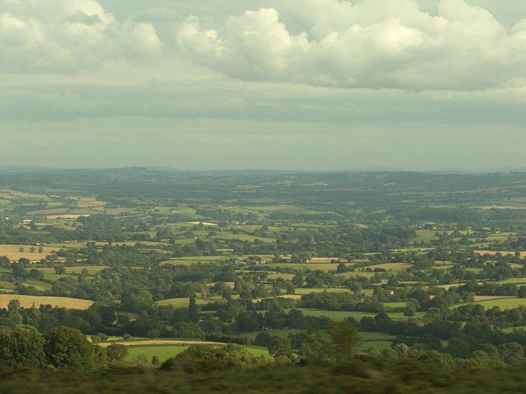 Widoki z drogi A4117