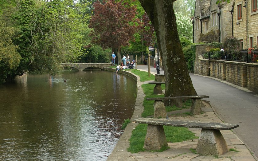 Costwold Hills - Bourton-on-the-Water - Rzeka Windrush