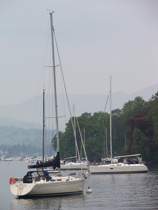 Jachty na Windermere